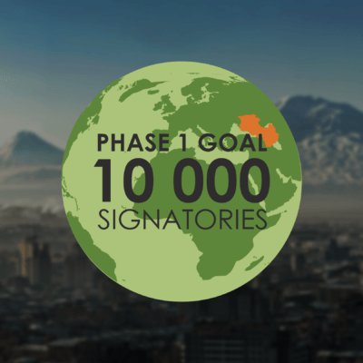 More than 10 000 signatories have joined The FUTURE ARMENIAN Initiative