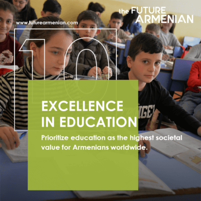 Excellence in education. Article by the Futures Studiօ's analytics team on the tenth Goal of The FUTURE ARMENIAN Initiative