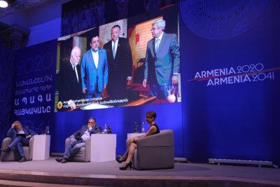 "Amenia TV: Noubar Afeyan and Ruben Vardanyan summed up the programs during the ""From Armenia 2020 to Armenia 2041"" event"
